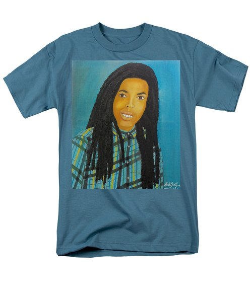 Men's T-Shirt  (Regular Fit) featuring the painting Kinshasa My First Grandchild by Nicole Jean-Louis