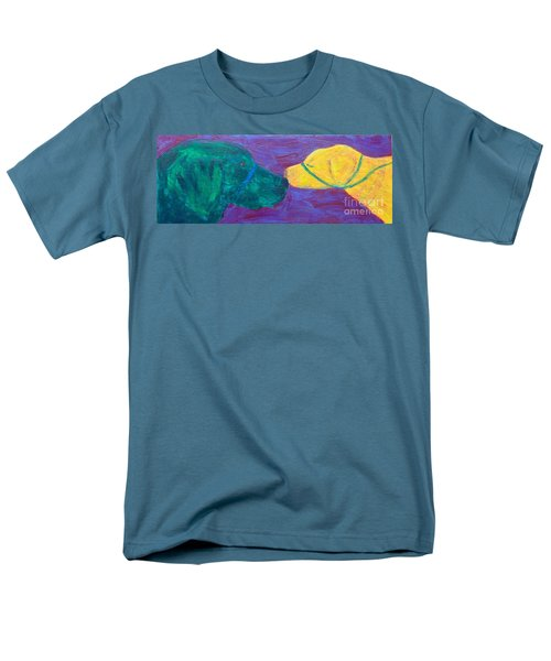 Men's T-Shirt  (Regular Fit) featuring the painting Kissing Dog by Donald J Ryker III