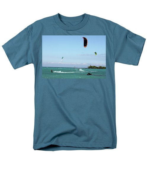 Kite Surfers And Maui Men's T-Shirt  (Regular Fit) by Karen Nicholson