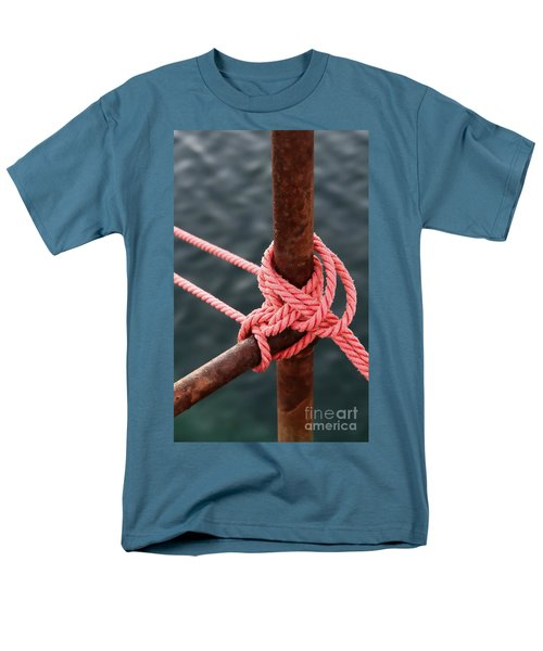 Men's T-Shirt  (Regular Fit) featuring the photograph Knot On My Warf IIi by Stephen Mitchell