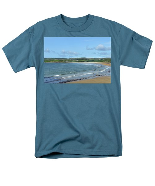 Men's T-Shirt  (Regular Fit) featuring the photograph Lahinch Beach by Terence Davis