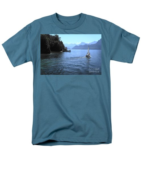Lake Lucerne Men's T-Shirt  (Regular Fit) by Therese Alcorn