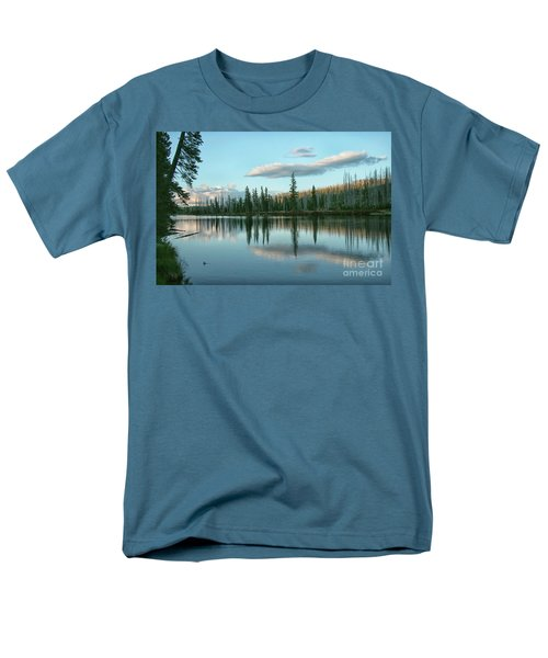 Lake Reflections Men's T-Shirt  (Regular Fit) by Myrna Bradshaw