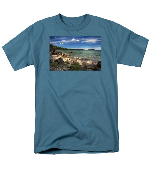 Lake Superior Men's T-Shirt  (Regular Fit) by Dan Hefle