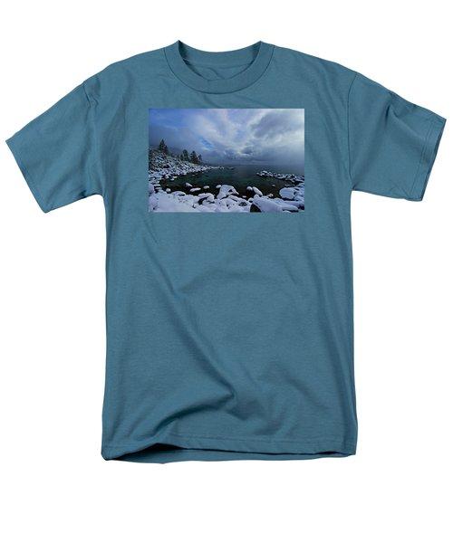 Lake Tahoe Snow Day Men's T-Shirt  (Regular Fit) by Sean Sarsfield