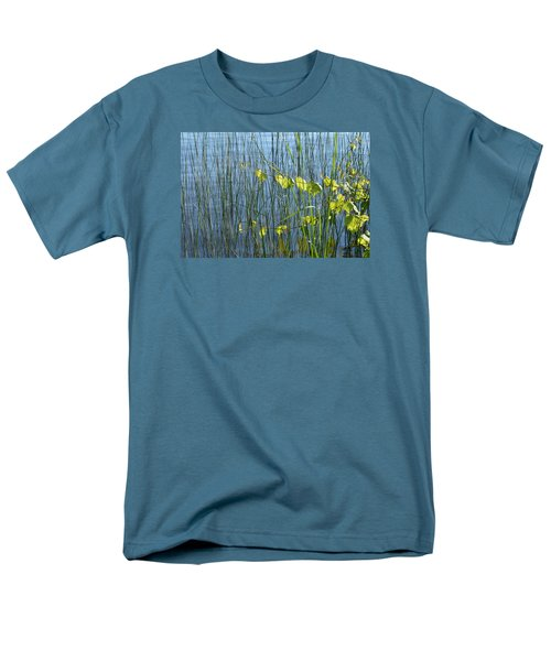 Men's T-Shirt  (Regular Fit) featuring the photograph Land And Water Plants  by Lyle Crump