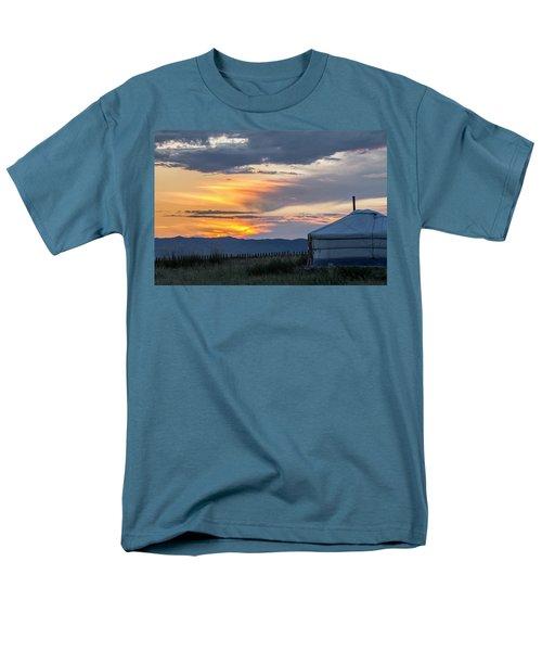 Men's T-Shirt  (Regular Fit) featuring the photograph Last Golden Light, Elsen Tasarkhai, 2016 by Hitendra SINKAR