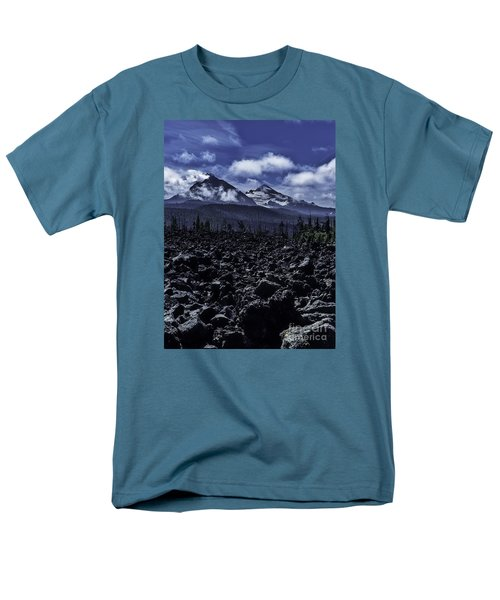 Lava Below The Sisters Men's T-Shirt  (Regular Fit) by Nancy Marie Ricketts