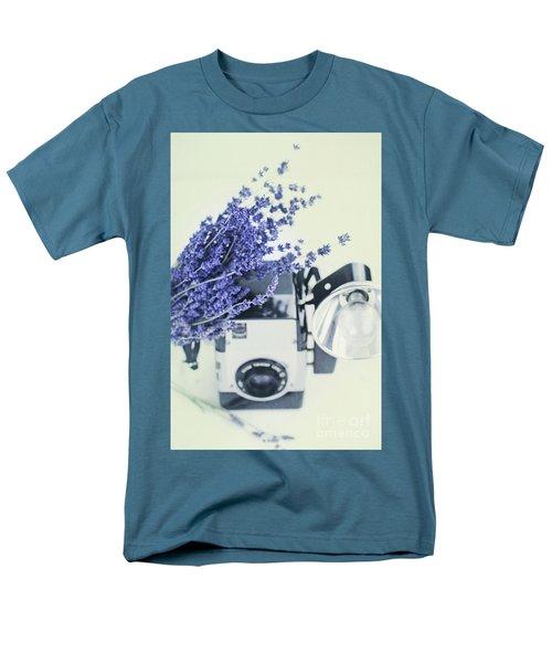 Lavender And Kodak Brownie Camera Men's T-Shirt  (Regular Fit)