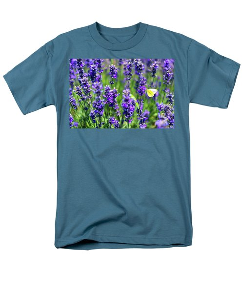 Men's T-Shirt  (Regular Fit) featuring the photograph Lavender And The Heart by Ryan Manuel