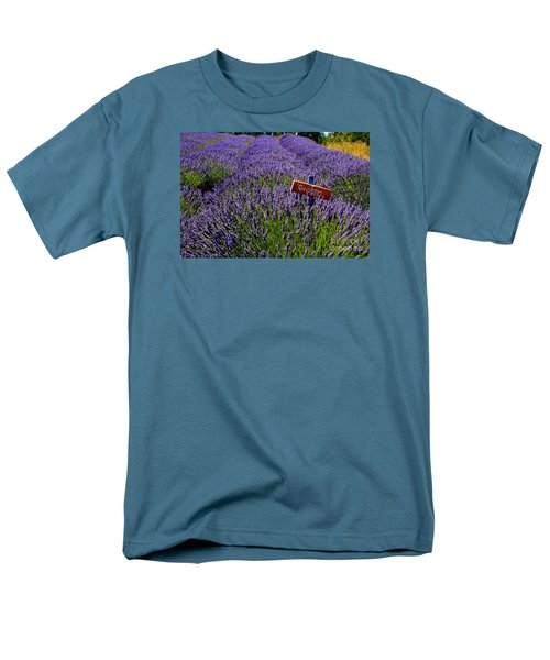 Men's T-Shirt  (Regular Fit) featuring the photograph Lavender Bounty 2 by Tanya  Searcy