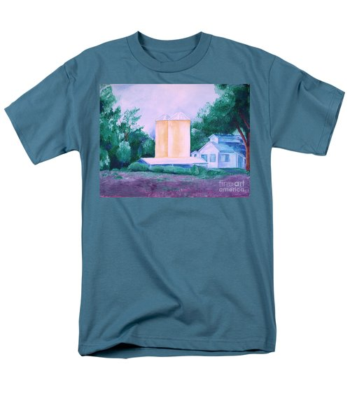 Men's T-Shirt  (Regular Fit) featuring the painting Lavender Farm Albuquerque by Eric  Schiabor