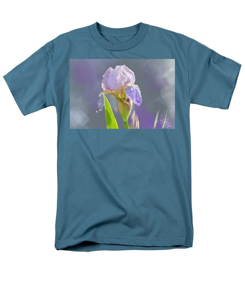 Lavender Iris In The Morning Sun Men's T-Shirt  (Regular Fit) by Debra Baldwin