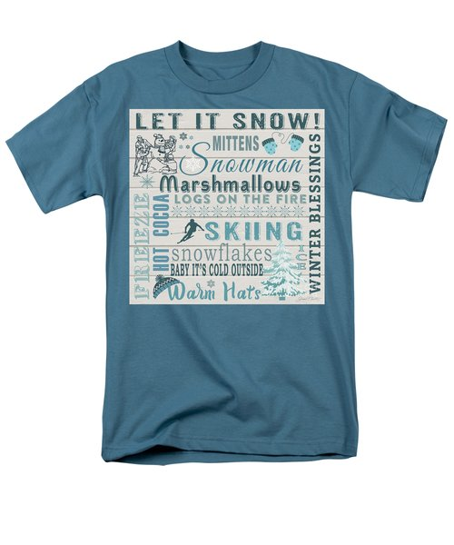Men's T-Shirt  (Regular Fit) featuring the digital art Let It Snow by Jean Plout
