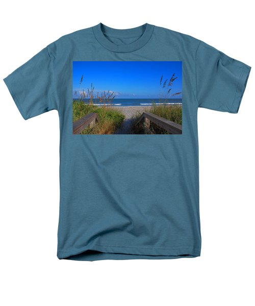 Lets Go To The Beach Men's T-Shirt  (Regular Fit)