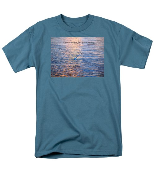 Life Is A Test Run For A Greater Journey Men's T-Shirt  (Regular Fit) by Susan  Dimitrakopoulos