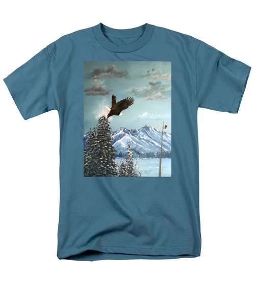 Men's T-Shirt  (Regular Fit) featuring the painting Lift Off by Al  Johannessen