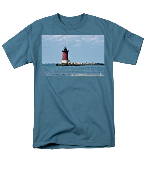 Men's T-Shirt  (Regular Fit) featuring the photograph Delaware Breakwater East End Lighthouse - Lewes Delaware by Brendan Reals