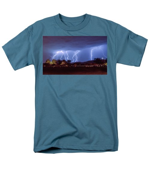 Lightning Over Laveen Men's T-Shirt  (Regular Fit) by Kimo Fernandez