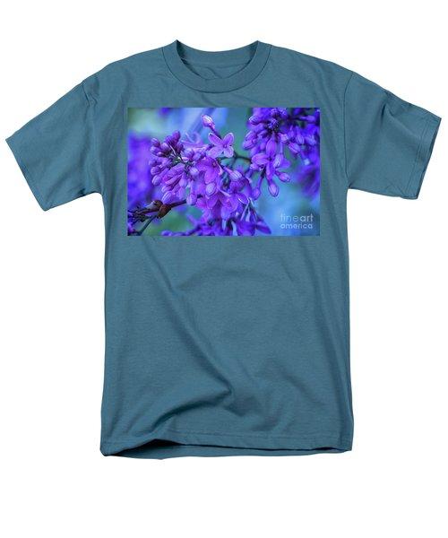 Lilac Blues Men's T-Shirt  (Regular Fit) by Elizabeth Dow