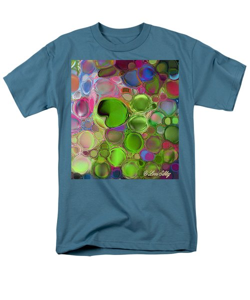 Lilly Pond Men's T-Shirt  (Regular Fit) by Loxi Sibley
