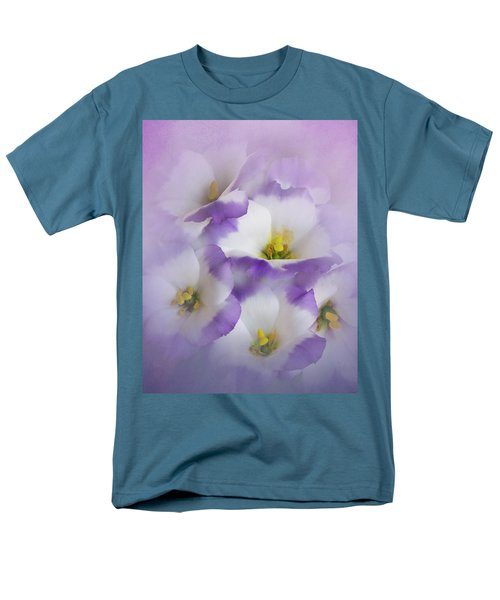 Men's T-Shirt  (Regular Fit) featuring the photograph Lisianthus Grouping by David and Carol Kelly