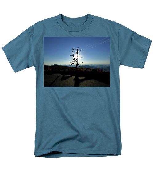 Men's T-Shirt  (Regular Fit) featuring the photograph Little Devil Stairs Overlook by Robert Geary