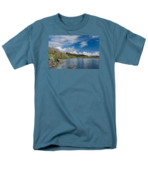 Little River In Spring Men's T-Shirt  (Regular Fit) by Greg Nyquist