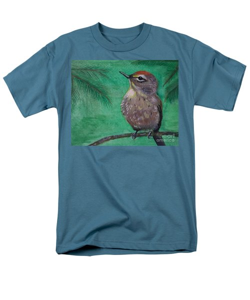 Men's T-Shirt  (Regular Fit) featuring the painting Little Warbler by Leslie Allen