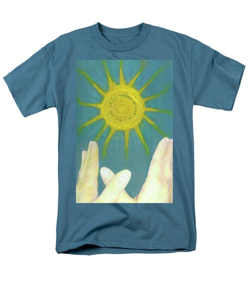 Men's T-Shirt  (Regular Fit) featuring the mixed media Live In Light by Desiree Paquette