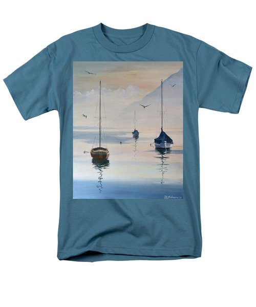 Locarno Boats In February-2 Men's T-Shirt  (Regular Fit) by David Gilmore