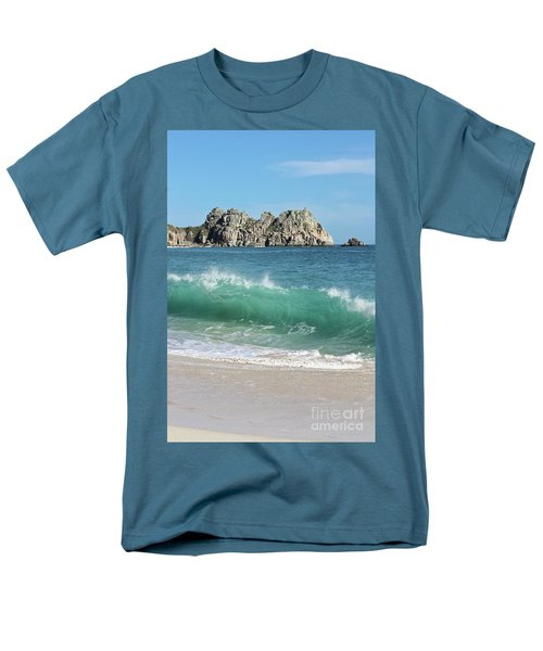 Men's T-Shirt  (Regular Fit) featuring the photograph Logan Rock Porthcurno Cornwall by Terri Waters