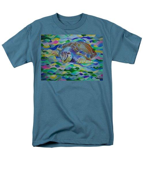 Loggerhead Turtle Men's T-Shirt  (Regular Fit) by Tracey Harrington-Simpson
