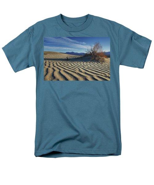 Lone Bush Death Valley Hdr Men's T-Shirt  (Regular Fit) by James Hammond