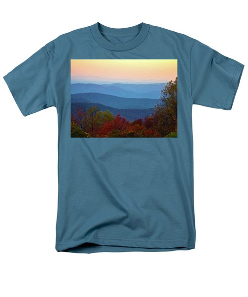 Men's T-Shirt  (Regular Fit) featuring the photograph Lost On The Blueridge by B Wayne Mullins
