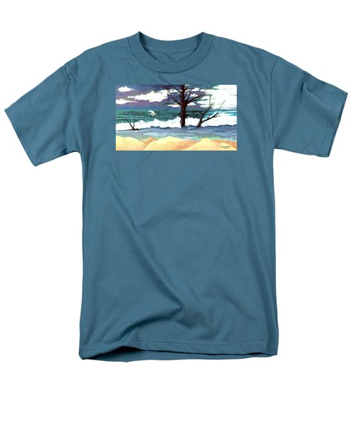 Men's T-Shirt  (Regular Fit) featuring the painting Lost Swan by Patricia Griffin Brett
