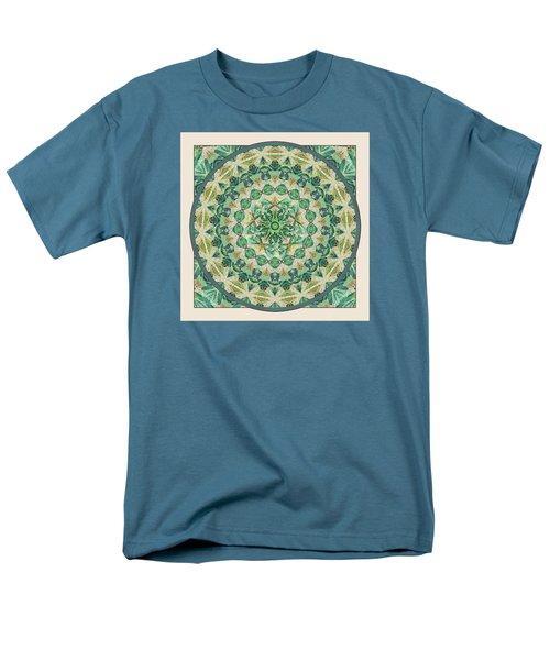 Men's T-Shirt  (Regular Fit) featuring the digital art Luna Meditation Mandala by Deborah Smith