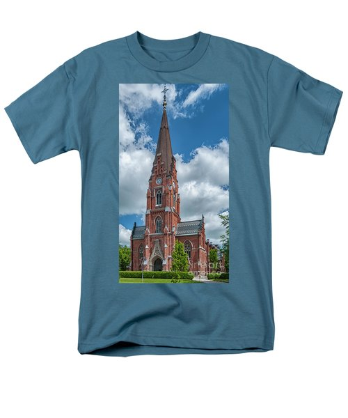 Men's T-Shirt  (Regular Fit) featuring the photograph Lund All Saints Church by Antony McAulay