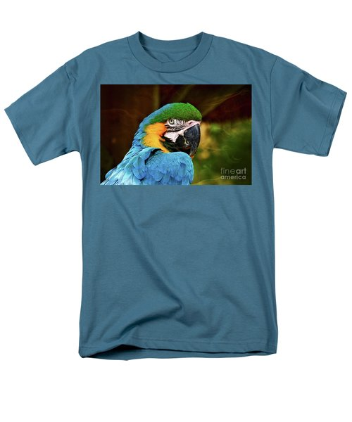 Macaw Portrait Men's T-Shirt  (Regular Fit) by Kathy Baccari