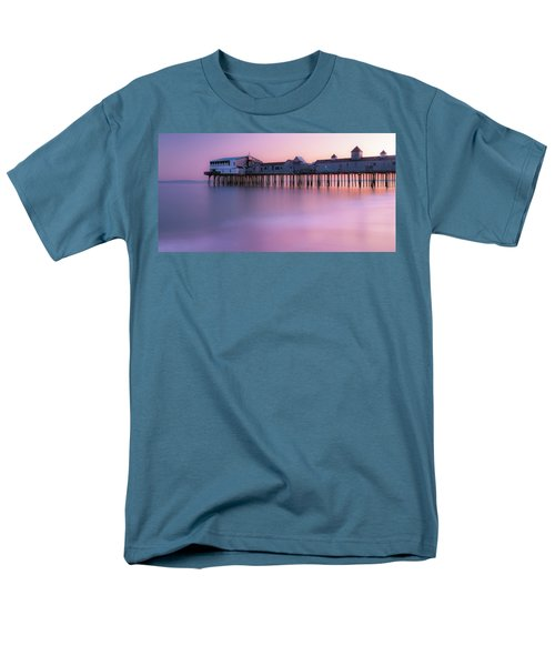 Maine Oob Pier At Sunset Panorama Men's T-Shirt  (Regular Fit) by Ranjay Mitra