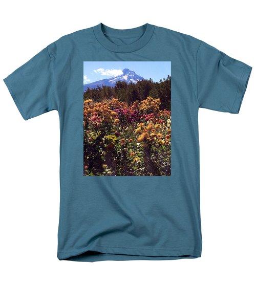 Majestic Mount Hood  Men's T-Shirt  (Regular Fit) by Jennifer Lake