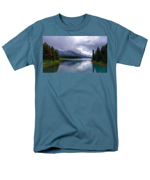 Maligne Lake Men's T-Shirt  (Regular Fit) by Heather Vopni
