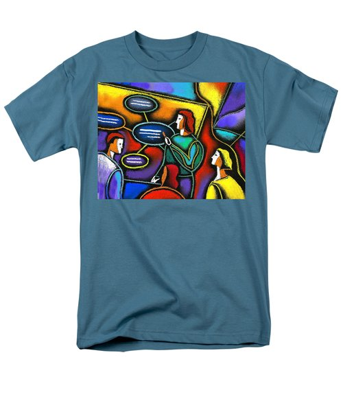 Men's T-Shirt  (Regular Fit) featuring the painting Manager  by Leon Zernitsky