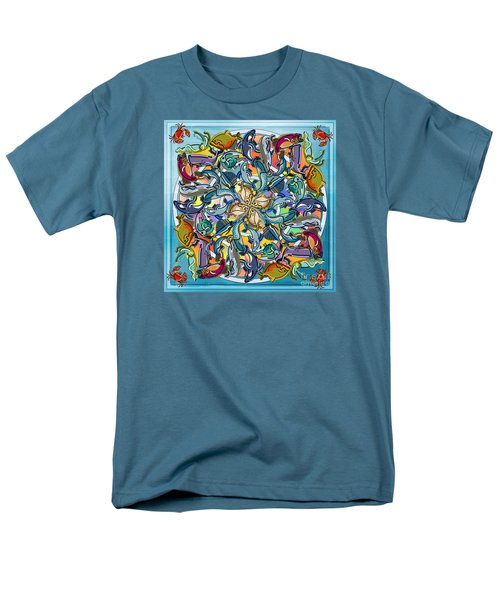 Mandala Fish Pool Men's T-Shirt  (Regular Fit) by Bedros Awak