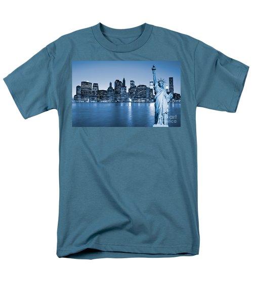 Manhattan Skyline Men's T-Shirt  (Regular Fit) by Luciano Mortula