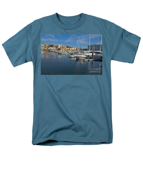 Marina Of Vilamoura At Afternoon Men's T-Shirt  (Regular Fit) by Angelo DeVal