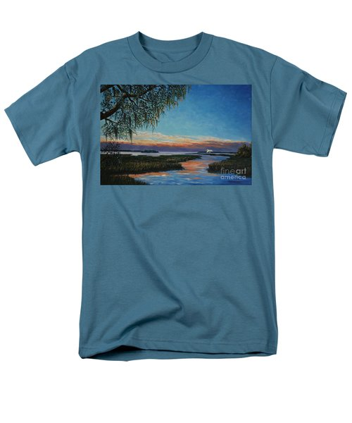 May River Sunset Men's T-Shirt  (Regular Fit) by Stanton Allaben