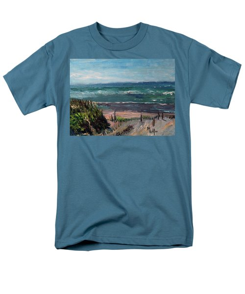 Mayflower Beach Men's T-Shirt  (Regular Fit) by Michael Helfen