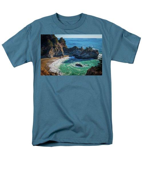 Mcway Falls Julia Pfieffer State Park Men's T-Shirt  (Regular Fit) by James Hammond