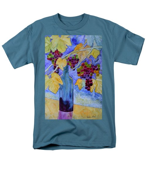 Men's T-Shirt  (Regular Fit) featuring the painting Merlot by Nancy Jolley